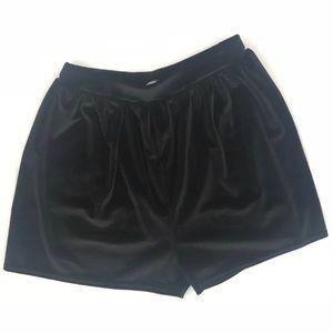 Missguided Black Shorts Crush Velvet Size 2